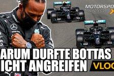 Formel 1 - Video: Formel 1: Warum durfte Bottas Hamilton nicht angreifen?