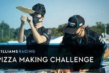 Formel 1 - Video: Formel 1: Williams-Piloten Russell & Latifi machen Pizza