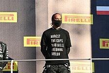 Formel 1, Hamiltons Anti-Rassismus-Shirt: FIA untersucht nicht