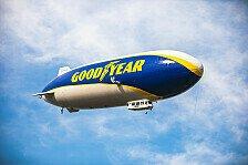 Augen auf! Goodyear-Blimp fliegt beim 24h-Rennen Nürburgring
