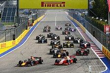 Formel 2 & Formel 3 Sotschi: Regen erzwingt Absagen