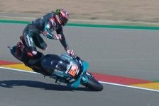 MotoGP Aragon - FP3: Quartararo stürzt heftig, Dovi muss in Q1