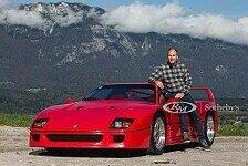 DTM-Chef Gerhard Berger bietet seinen Ferrari F40 zum Kauf an
