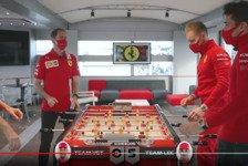 Formel 1 - Video: Formel 1: Leclerc zerstört Vettel am Tisch-Kicker