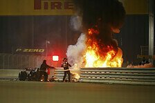 Formel 1: Grosjean übersteht Horror-Crash mit Verbrennungen