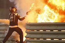 Formel 1, Grosjean gibt erstes Interview: Den Tod kommen sehen