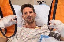 Nach Horror-Crash: Grosjean meldet sich aus Krankenhaus