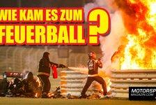 Formel 1 - Video: Zweigeteilt! Warum fing Grosjeans Formel 1-Auto Feuer?