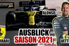 Formel 1 - Video: Formel 1 2021: Der große Saisonausblick Vettel, Mick & Alonso