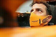 Formel 1 - Video: Formel 1, Trockenübung für Ricciardo: Sitzprobe im neuen MCL35M