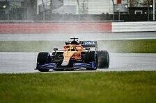 McLaren: Erste Ausfahrt des MCL35M beim Filmtag in Silverstone