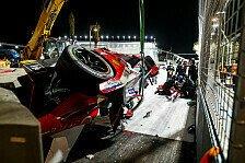 Formel E - Unfall-Video: Lynns Auto nach Überschlag zerstört