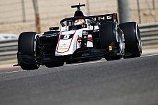 Formel 2 Test, Bahrain: Lundgaard und Ticktum an Tag 2 vorne