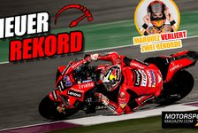 MotoGP - Video: Rekordjagd beim MotoGP-Test: Neue Bestwerte in Katar