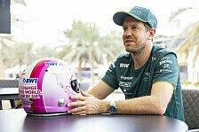 Neuer Helm für Sebastian Vettel: Pinkes Design mit BWT-Deal