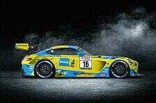 24h Nürburgring 2021: HRT-Mercedes im berühmten Blau-Gelb