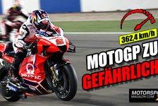 MotoGP - Video: Valentino Rossi mahnt: MotoGP wird zu schnell