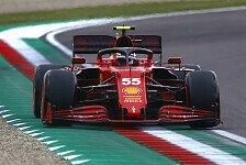 Formel 1 - Video: Formel 1: Carlos Sainz fährt in Imola mit verbundenen Augen