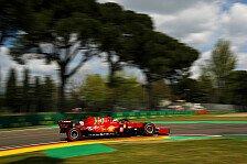 Formel 1 - Video: Formel 1: Charles Leclerc fährt in Imola mit verbundenen Augen