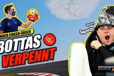 Formel 1 - Video: Formel 1 Crash: Schlafmütze Bottas verpennt Entschuldigung!