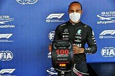 Formel 1 - Hamilton nach 100. Pole überwältigt: Verrückte Zahl