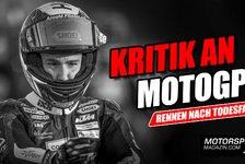 MotoGP - Video: MotoGP-Rennen nach Tod von Jason Dupasquier: Fahrer verärgert