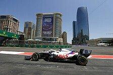 Formel 1 Baku: Öldruck bremst Schumacher, Mazepin schneller