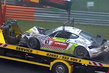 24h Nürburgring: Fahrer muss nach Überschlag operiert werden