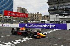 Formel 2 2021: Aserbaidschan GP - Rennen 7 bis 9