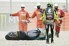Valentino Rossi crasht erneut: Sehr schlechtes Rennen für mich