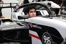 Formel 3: Correa wird Teil des Sauber-Nachwuchsprogramms