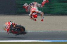 MotoGP Assen: Monster-Highsider für Marc Marquez im 2. Training