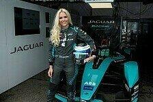 Formel E, New York: Lindsey Vonn trainiert im Jaguar I-Type 5