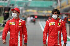 Formel 1 - Video: Formel 1: Leclerc & Sainz kämpfen in Ferrari-Olympiade
