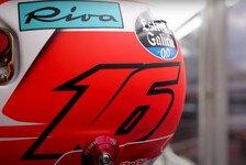 Formel 1 - Video: Leclerc präsentiert sein spezielles Helmdesign für Silverstone