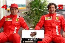Formel 1 - Video: Sainz und Leclerc erraten Länder in der Emoji-Challenge
