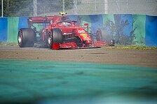 Formel 1: Wind zerstört Ferrari-Qualifying, Carlos Sainz crasht