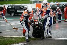 MotoGP: Lorenzo Savadori bei Feuer-Unfall verletzt