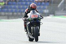 MotoGP Spielberg: Quartararo im Warm-Up voran, Zarco fliegt ab