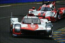 24H Le Mans: Toyota auch im letzten Training voran