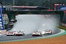 24h Le Mans: Totales Chaos nach Regenstart