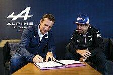 Formel 1, Alonso überzeugt Alpine: Vertrag in einer Minute