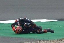 MotoGP: Quartararo schockt mit Crash, fährt dann Tagesbestzeit