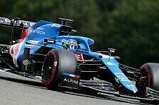 Formel 1 Spa, Alpine nicht leicht zu fahren? Alonso trotzdem P4
