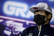 Formel 1, Vertrag überraschte Tsunoda: Crashe doch ständig!
