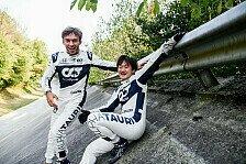 Formel 1 - Video: Formel 1, Monza: AlphaTauri-Fotoshooting in der Steilkurve