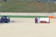 Zwei Horror-Crashes überschatten Moto3-Training in Misano