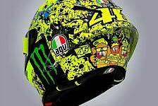 Valentino Rossis Helm: Die letzte Sonderlackierung für Misano