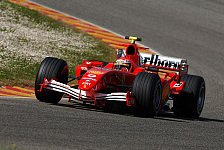 Formel 1 - Ferrari legte V8-Test nach