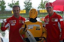 Formel 1 - Schumacher & Barrichello denken, bevor sie fahren
